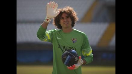 Guillermo Ochoa llega al Málaga ilusionado con el crecimiento del club
