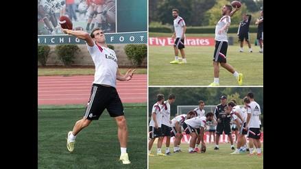 Real Madrid busca más agilidad y entrena jugando fútbol americano