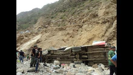 Junín: once heridos por despiste de ómnibus en viaje de promoción