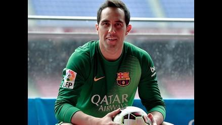 Claudio Bravo amenaza ganarse el titularato en el arco de Barcelona