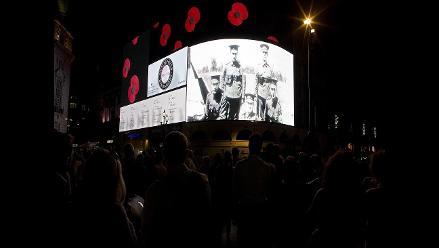 Luces apagadas en el Reino Unido por el centenario de la Gran Guerra