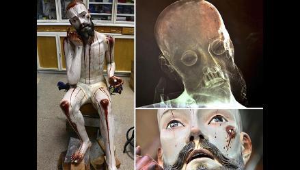 Descubren dientes reales en escultura de Cristo del siglo XVIII en México