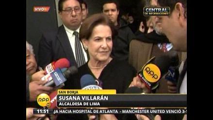 Susana Villarán acudió al velorio de Rafael Santa Cruz