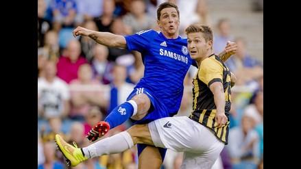 Fernando Torres y una definición terrible con la camiseta de Chelsea