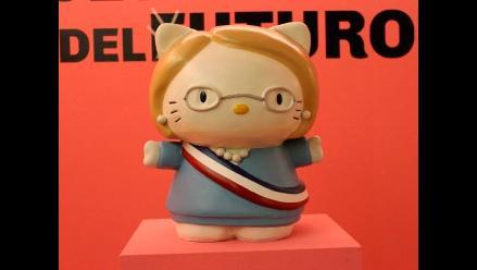 Artista uruguayo convierte a Hello Kitty en presidenta de Chile