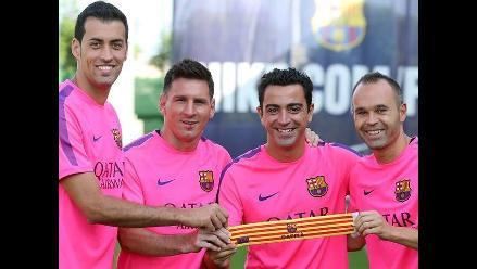 Xavi, Iniesta, Messi y Busquets serán los capitanes de Barcelona