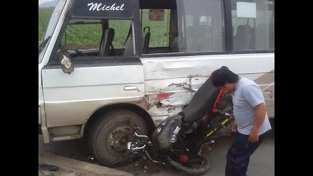 Huaral: conductor de moto lineal sobrevivió en accidente de tránsito