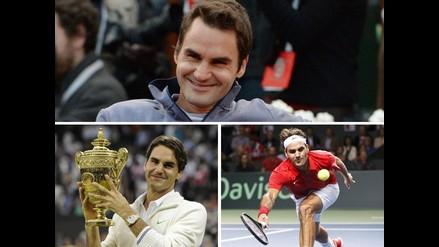 Roger Federer cumple 33 años como el tenista más ganador de Grand Slam
