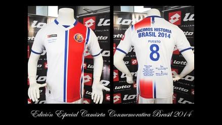 Costa Rica tiene camiseta conmemorativa por la campaña de Brasil 2014