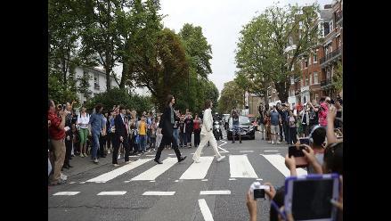 Fans de The Beatles celebraron el 45 aniversario de la foto en Abbey Road