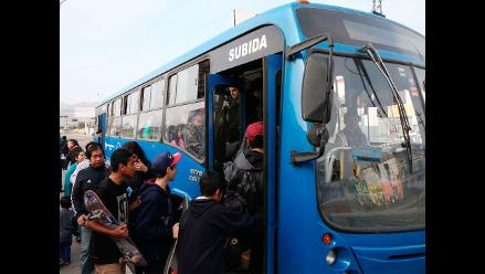 Hasta 56 buses circularán en tercer ensayo del Corredor Azul