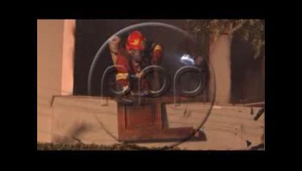 Se incendió vivienda de abogada Cecilia Blume