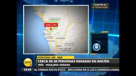 Cerca de 40 pasajeros de ómnibus provincial quedan varados en Ancón