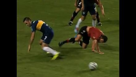 Escalofriante lesión de Marcos Cáceres en el Boca Juniors-Newell