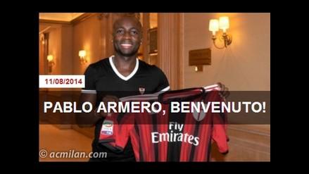 Pablo Armero llegó a Italia y promete hacer bailar al AC Milan