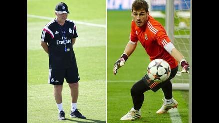 Carlo Ancelotti: La confianza en Iker Casillas es total para la Supercopa