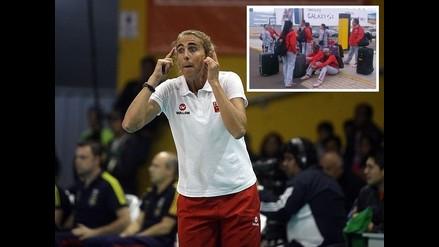 Natalia Málaga se molestó porque nadie recogió a selección de vóley