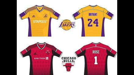 Camisetas de la NBA tendrían estos diseños si fueran de fútbol