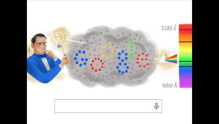 Doodle recuerda a Anders Angstrom fundador de la espectroscopia