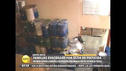Evacuan viviendas por fuga de pesticida en Santa Anita
