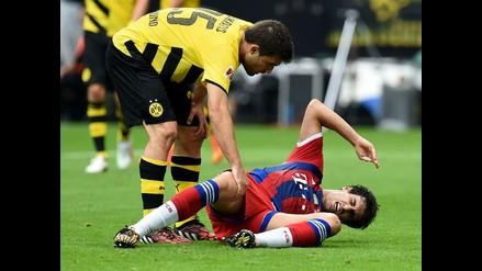 Javi Martínez reconoció tener rotos los ligamentos de la rodilla