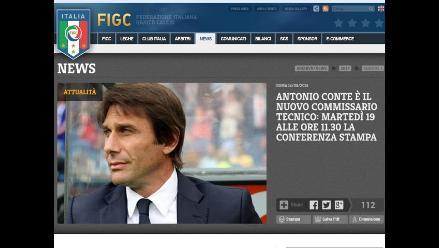 Antonio Conte es designado nuevo entrenador de la selección italiana