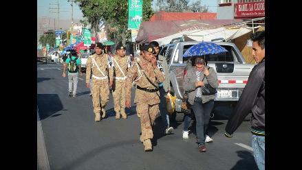 Ejército apoya en seguridad y orden en corso de Arequipa