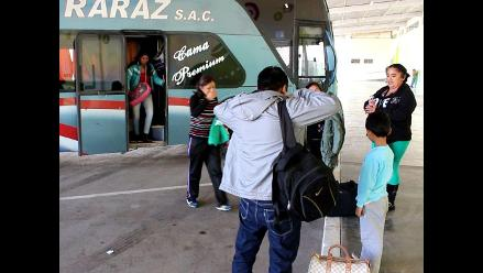 Huancayo: buses llegan con retraso tras caída de nieve en Ticlio