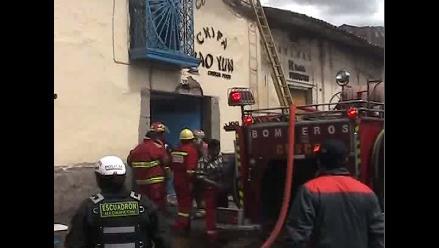 Cusco: incendio en restaurante deja seis personas heridas