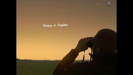Espectacular conjunción de Venus y Júpiter será vista este lunes