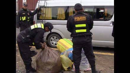 Huamachuco: Decomisan ocho sacos con hoja de coca