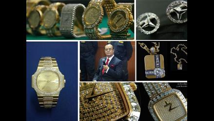 Comenzó la subasta de 152 joyas decomisadas a Vladimiro Montesinos