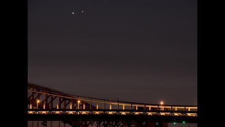 Venus y Júpiter, un espectacular encuentro planetario