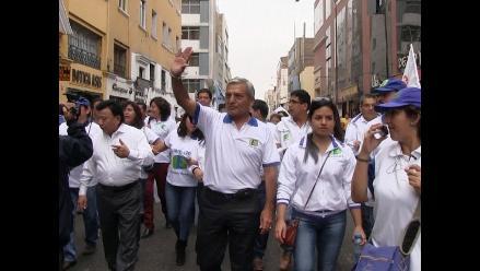 Trujillo: Elidio preside marcha por reinicio de juicio oral