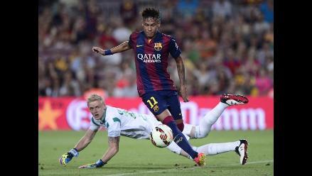 Barcelona vs. Leon: Neymar anotó de taco el tercer gol azulgrana