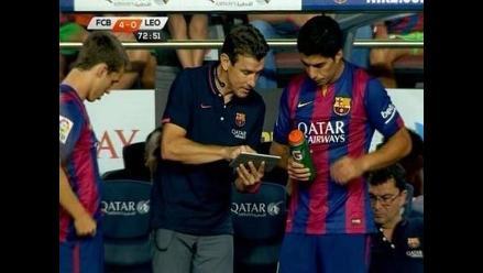 Barcelona vs. León: Luis Suárez debutó como jugador del club azulgrana