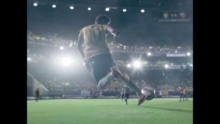 Neymar y el nuevo spot donde de las suyas en un estadio lleno de espejos