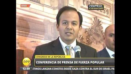 Fujimorismo expresó a Ana Jara su rechazo a candidatura de García Sayán