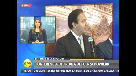 Juan Díaz espera que otras bancadas no acojan a Víctor Grandez