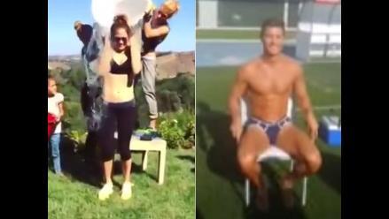 Jennifer López acepta desafío de Cristiano Ronaldo y se bañó con agua helada