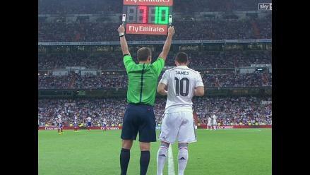 James Rodríguez debutó oficialmente en Real Madrid en Supercopa de España