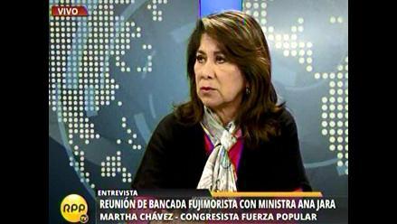 Martha Chávez sobre voto de confianza: ´no sé si nos abstendremos´