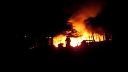 Chincha: incendio consume por completo una vivienda