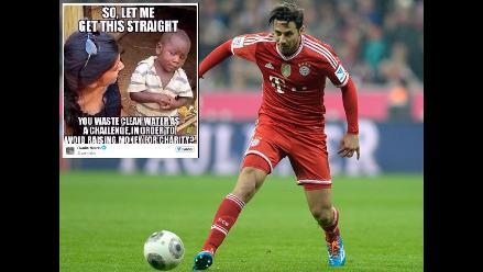 Pizarro y su polémica respuesta al reto #IceBucketChallenge del ´Checho´