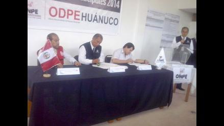 Huánuco: ODPE sorteó ubicaciones de agrupaciones políticas en cédula
