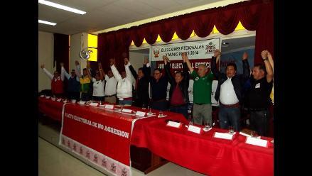 Chimbote: quince candidatos firmaron Pacto Ético Electoral de no agresión
