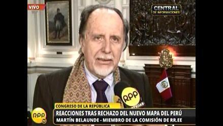 Belaunde: Mapa de límites peruano no contraviene al fallo de La Haya