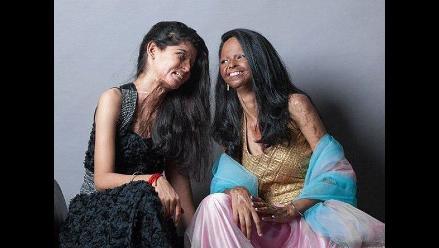 India: Espectacular sesión de fotos de las sobrevivientes al ataque con ácido