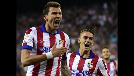 Atlético vs. Real Madrid: Mandzukic anotó el 1-0 de los ´colchoneros´