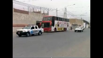 Lambayeque: rescatan bus que llevaba a bordo a niños de Aldea Infantil